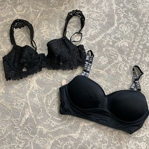 Two small black bras